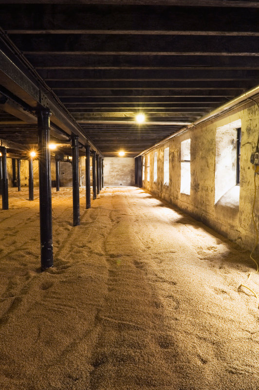 A traditional Scottish malting floor