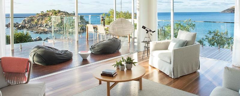 The Lizard Island Pavilion boasts stunning water views