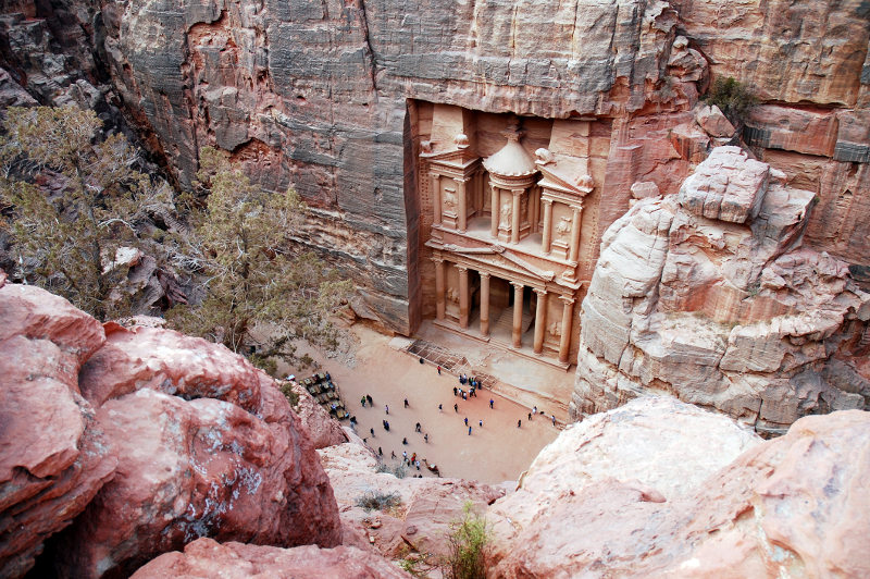 The Treasury building at Petra, Jordan.
