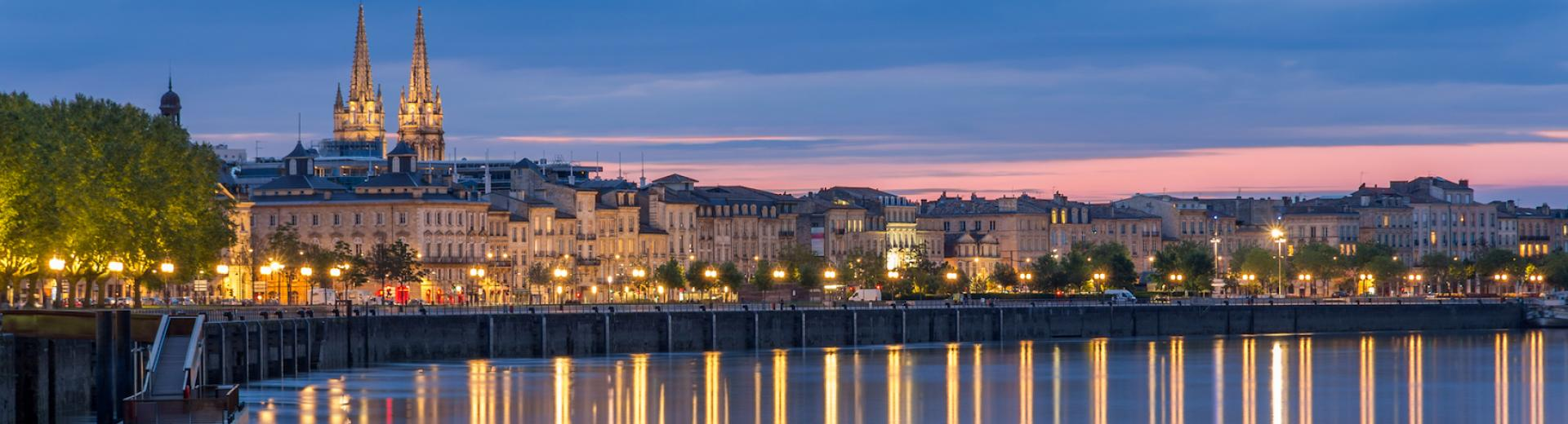 Bordeaux and Garonne River