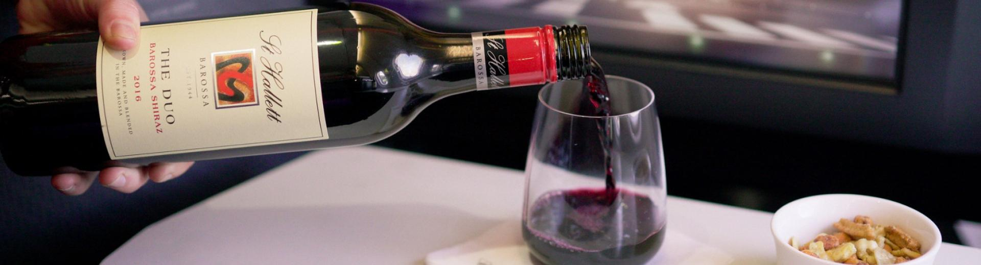 Virgin Australia The Duo wine