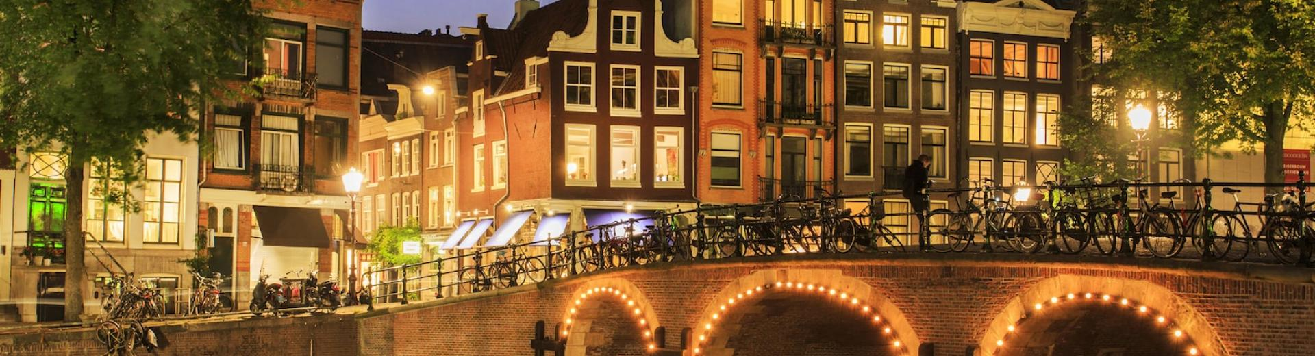 Amsterdam really comes to life at night.