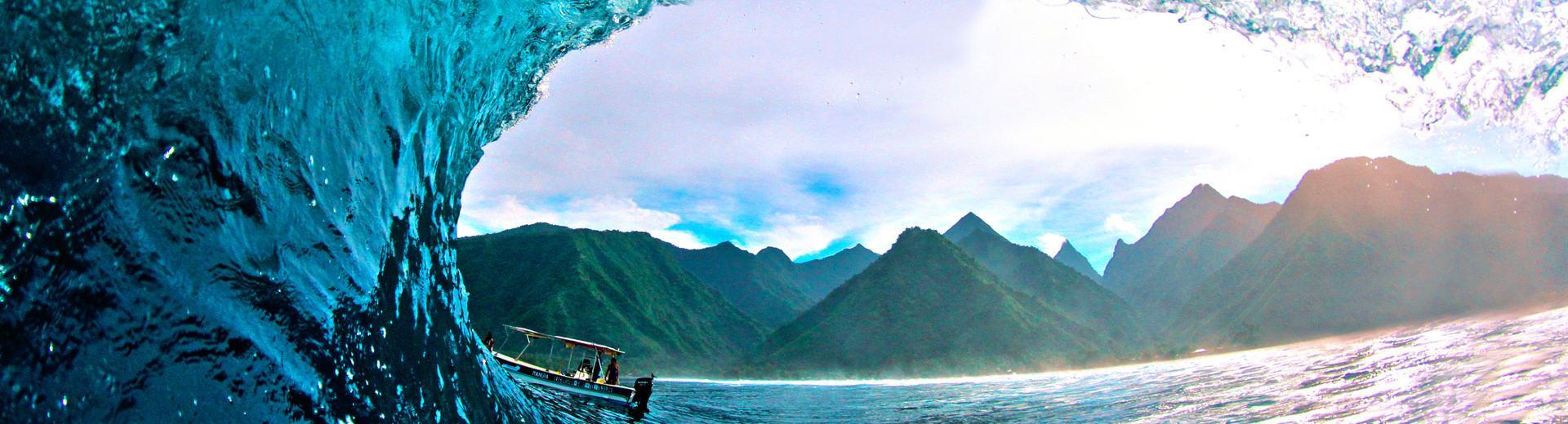 Teahupoo beach Tahiti