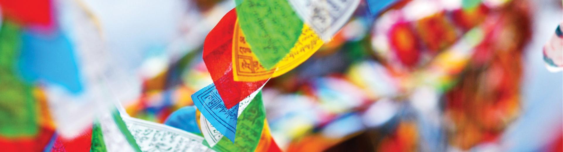 Tibetan Prayer Flags at Festival