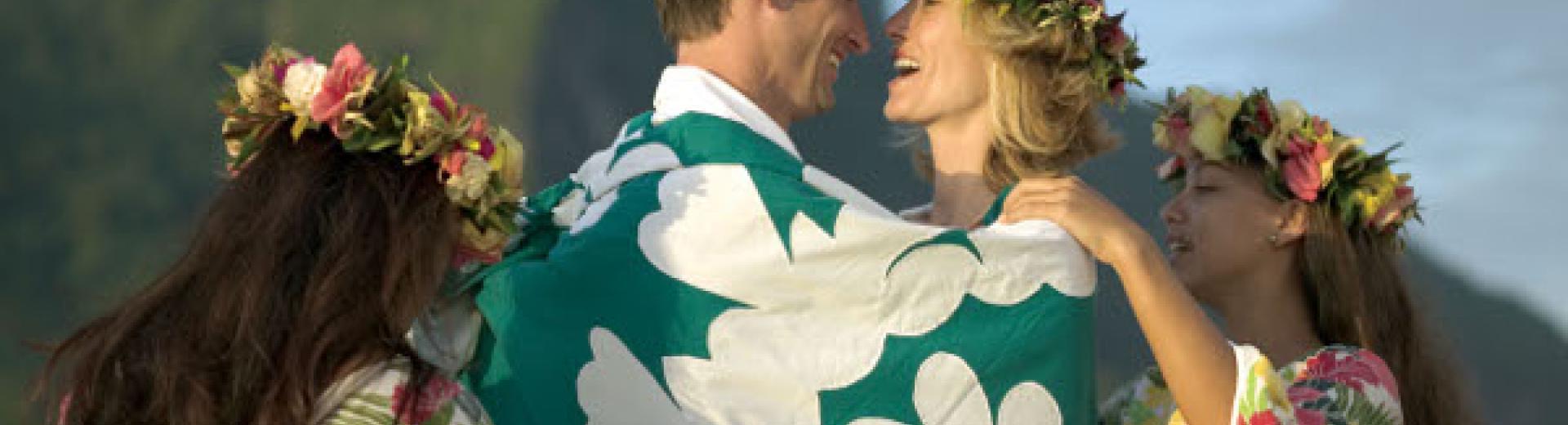 paul gaugin cruise wedding cloth