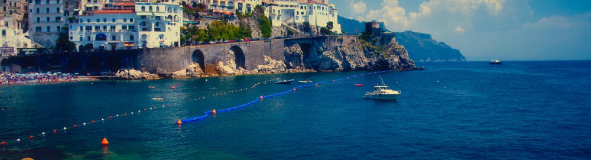 The Amalfi Coast from the ocean