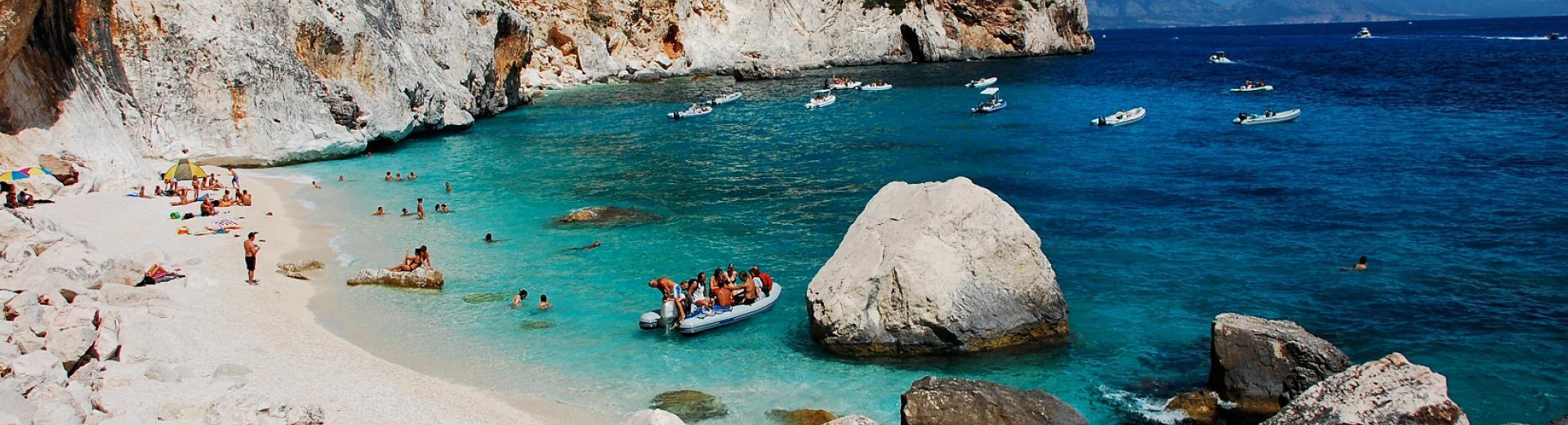 Beautiful rocky cove in Sardinia.