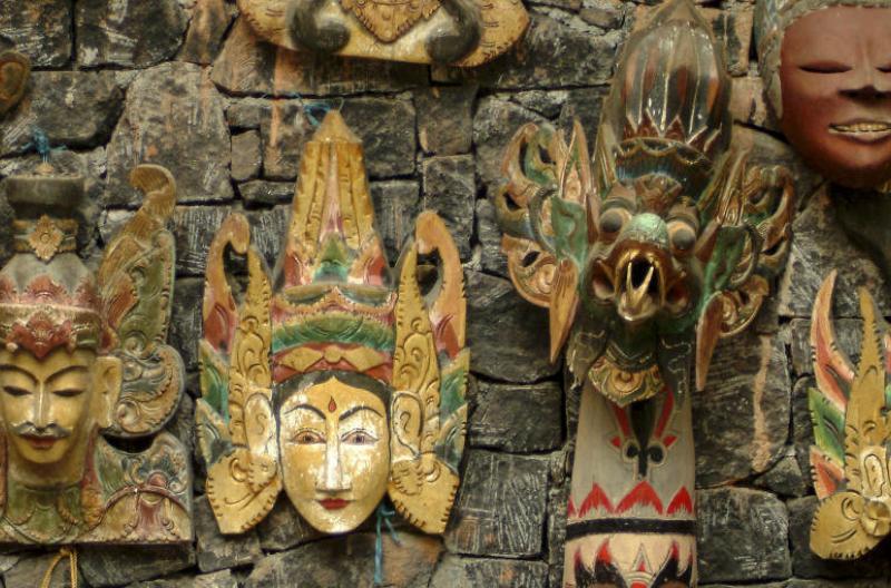 Bali souvenirs masks