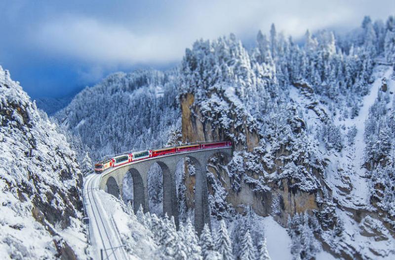 Landwasser Viaduct Switzerland