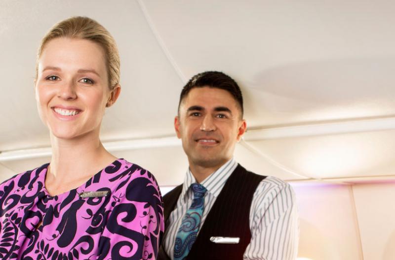 Air New Zealand Flight Attendants Premium Economy