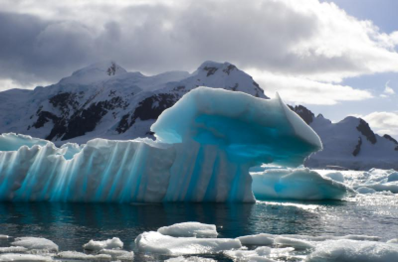 Blue Antarctica Iceberg