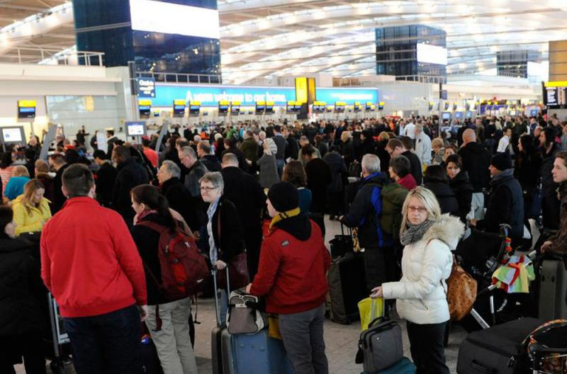 Crowded International Airport