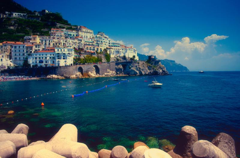 The Amalfi Coast from the ocean