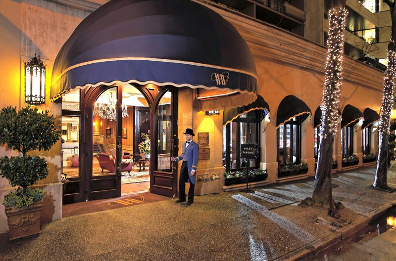 Wedgewood Hotel Lobby Entrance Night