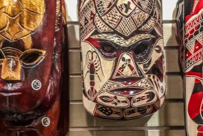 Fijian carved masks, Fiji souvenir shopping