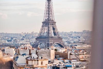Travel Associates view of eiffel tower through window