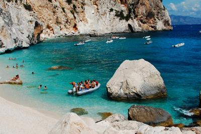 Beautiful rocky cove in Sardinia.