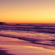 Purple Sunset Beach