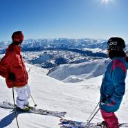 The Remarkables offer stunning views from its sun filled slopes pic Tony Harrington