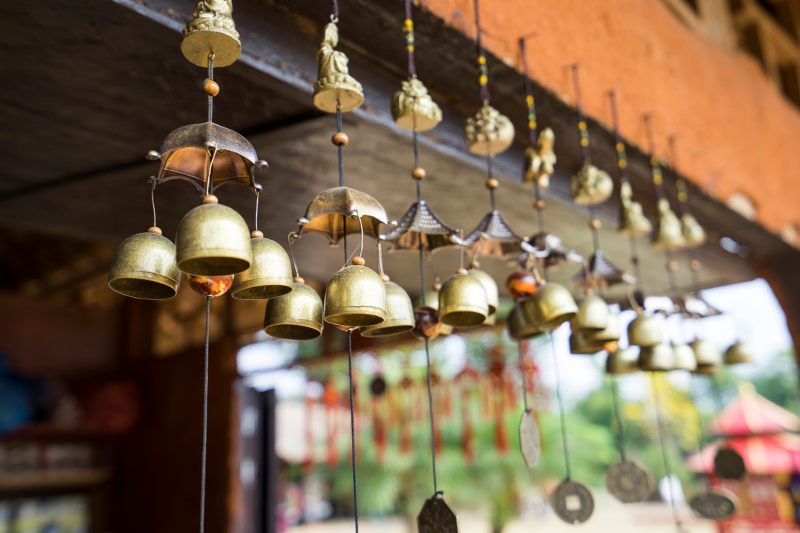 Thai Bells in marketplace
