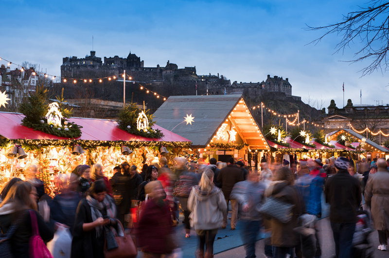 Christmas Markets in Edinburgh, Scotland