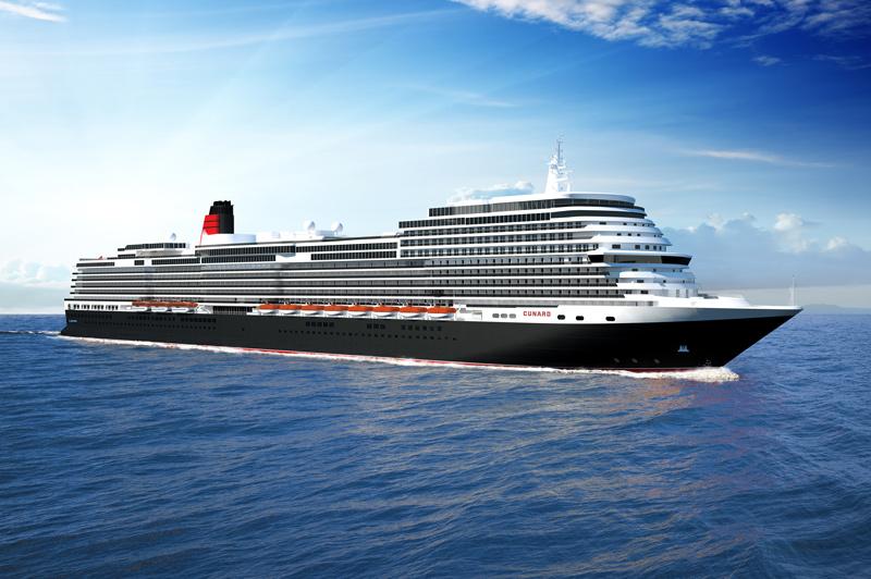 Yet to be named, the new Cunard Queen coming in 2022