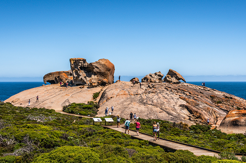 Remarkable rocks panorama view on Kangaroo island