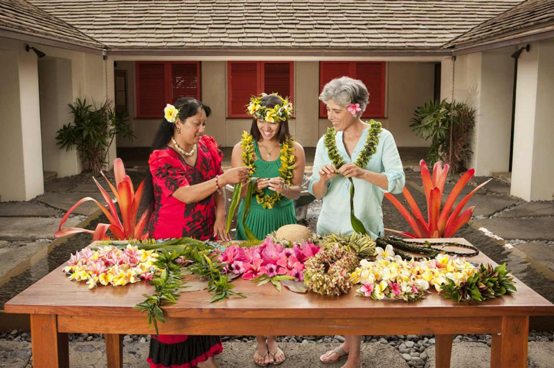 Lei Making at Travaasa Hana, Hawaii
