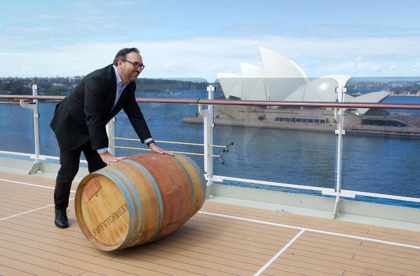 Travel Associates starward whisky barrel on cunard ship sydney