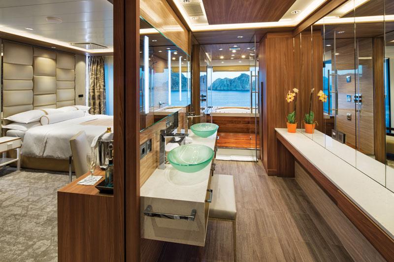 club spa suite bathroom