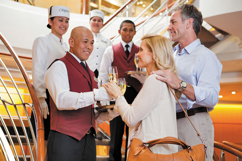 Regent Seven Seas boast an enviable staff-to-guest ratio