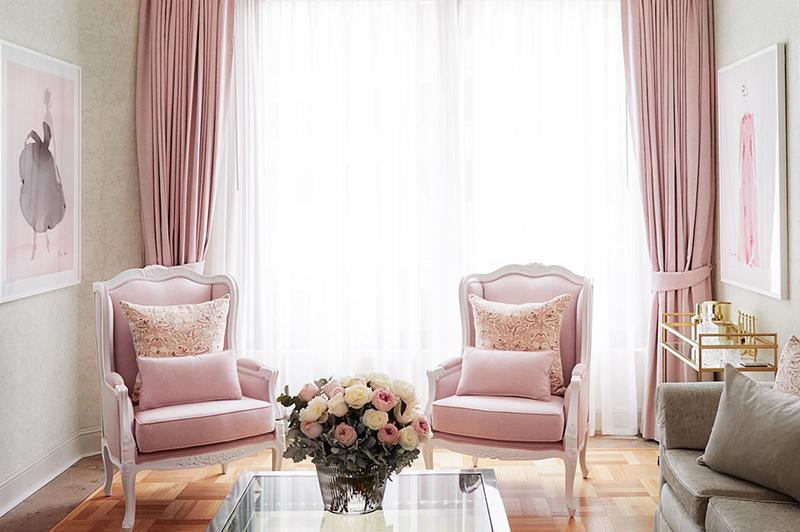 Kerrie Hess Residence Suite Living Room, The Langham Hotel, Melbourne