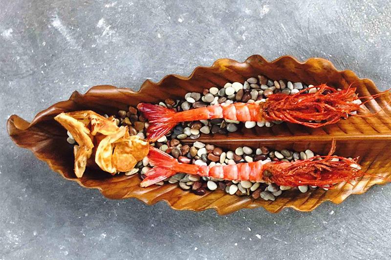 Scarlet prawns with prawn roti, Restaurant Orana | Credit: Restaurant Orana