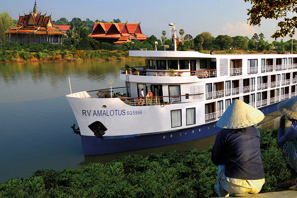 The RV AmaLotus is one of the most luxurious river ships cruising on the Mekong River.