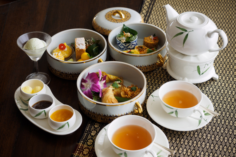 High tea at  Mandarin Oriental Bangkok