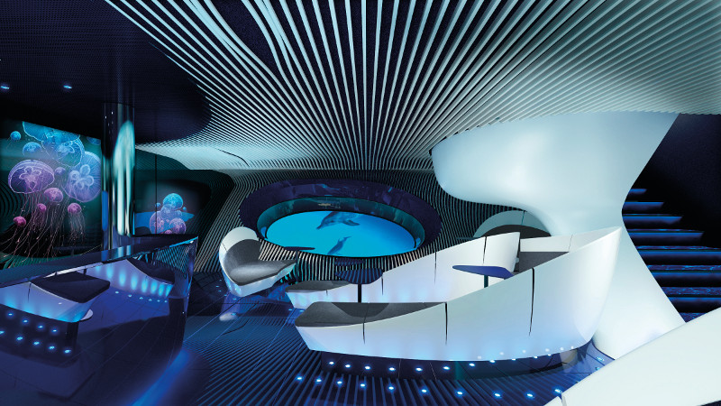 Blue Eye underwater lounge Ponant cruises