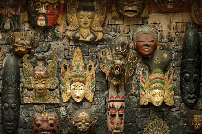 Balinese dance masks