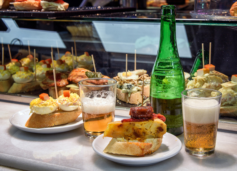 Beer and tapas Spain