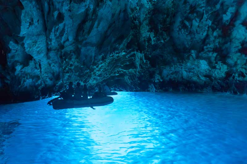 Bisevo Blue Cave, Croatia