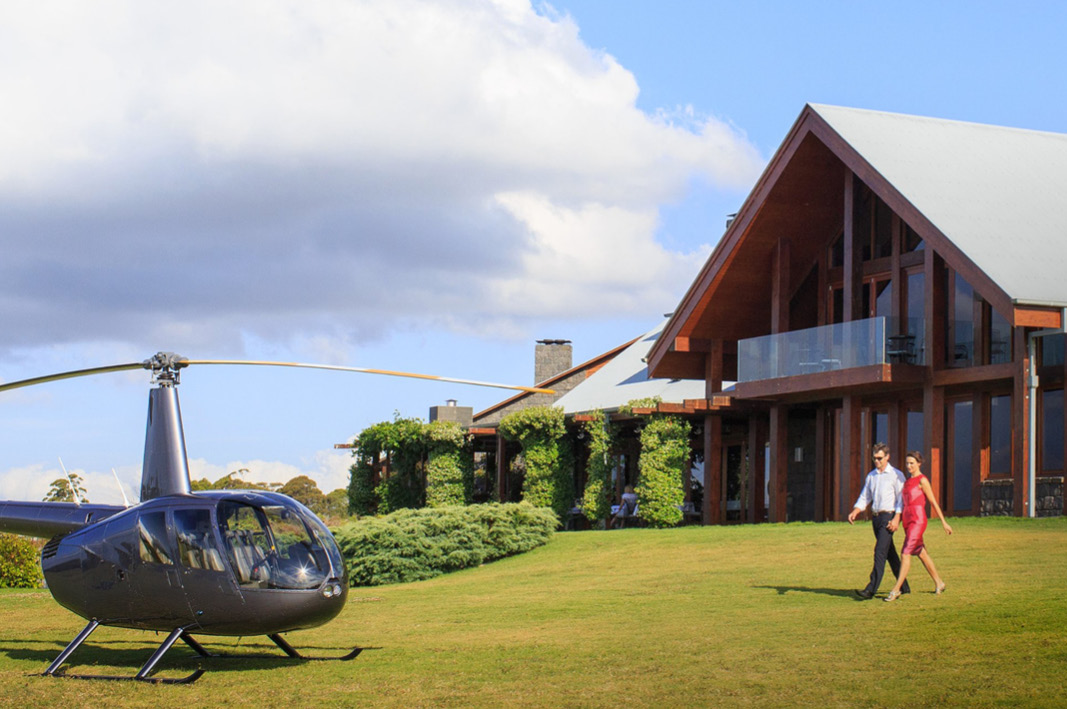 Spicers Peak Lodge |  If you can't drive, why not fly - helicopter transfers available
