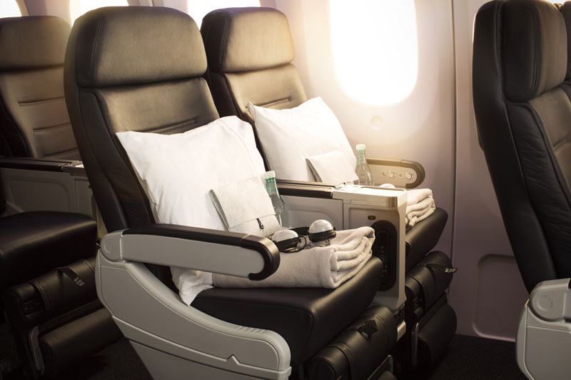 Boeing Premium Economy Seats Dressed