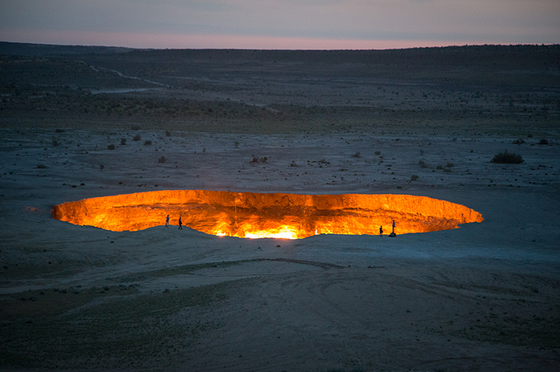 Derweze Gas Crater known as 'The Gates of Hell', Turkmenistan