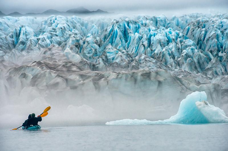 Alaska's Bear Glacier lake
