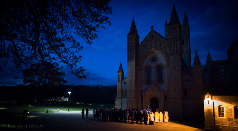 Easter vigil at the magnificent Buckfast Abbey