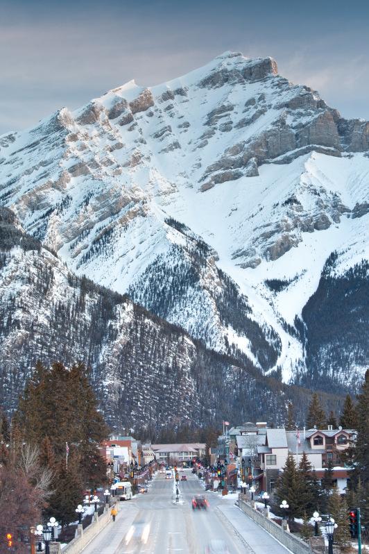 Cascade Mountain over Banff, Canadian Rockies