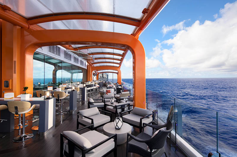 Celebrity Edge, The Magic Carpet (image courtesy of Celebrity Cruises)