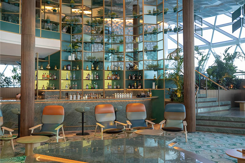 Celebrity Edge, Eden Bar (image courtesy of Celebrity Cruises)
