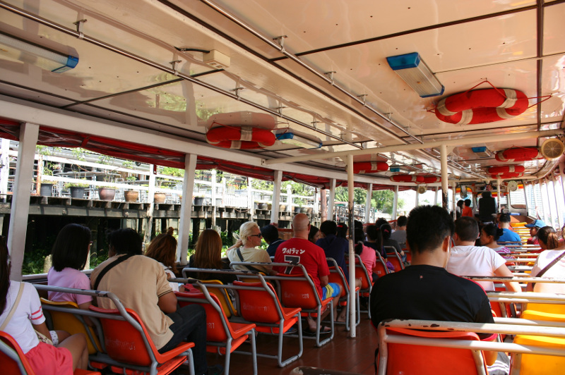 Onboard the Chao Phraya River Express Boat