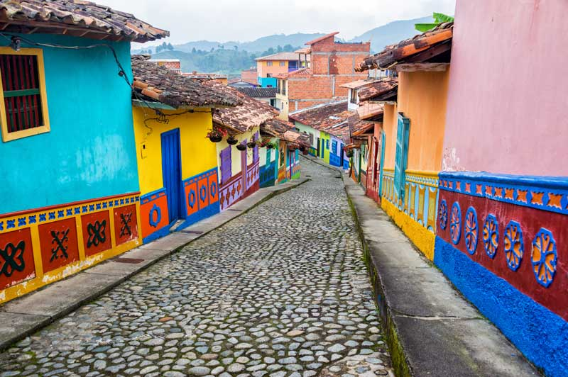 Colourful streets of Colombia