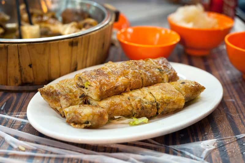 Fried spring roll at a Hong Kong dai pai dong